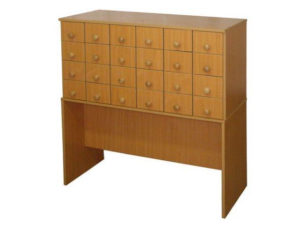 Картотека (30 ящиков) - мебель для библиотеки - макс мебель.